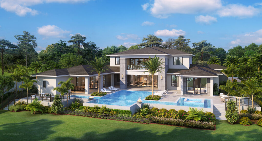 8506 Lake Nona Shore Dr (Lot 35) - Rear Elevation Rendering (1)